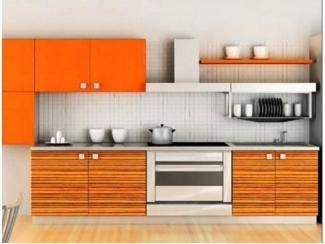 Оранжевая прямая кухня  - Мебельная фабрика «Перспектива»