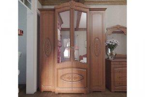 Шкаф платяной Валенсия МДФ каштан с патиной - Мебельная фабрика «Вестра»