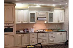 Белая большая Кухня Эмма крем  - Мебельная фабрика «Шанс»