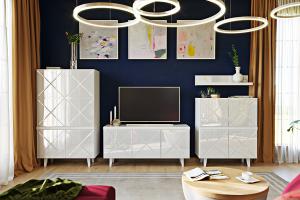 Белая гостиная Kristal - Мебельная фабрика «ОГОГО Обстановочка!»