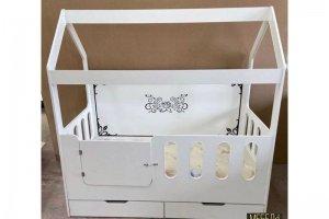 Белая кровать-домик - Мебельная фабрика «Мебель Бородино»