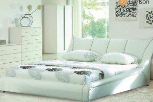 Белая Кровать Премьера - Мебельная фабрика «DiMSon»