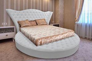 белая круглая КРОВАТЬ FLORA - Мебельная фабрика «City»