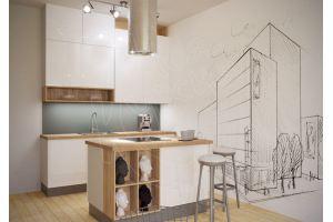 Белая кухня Графика - Мебельная фабрика «Моя кухня», г. Санкт-Петербург