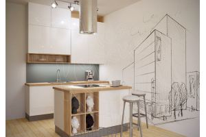 Белая кухня Графика - Мебельная фабрика «Моя кухня»