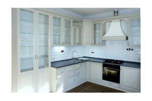 Белая кухня из массива ЛЮСЕНА  - Мебельная фабрика «КухниДар»