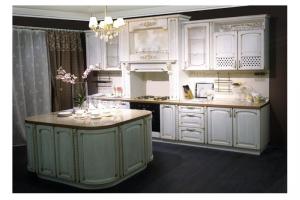 Белая кухня Палермо из массива - Мебельная фабрика «Формула Уюта»