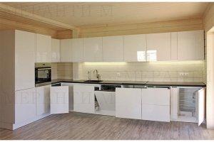 Белая кухня с фасадом Simpel 7 - Мебельная фабрика «Меранти М»