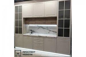 Белая кухня с фрезеровкой - Мебельная фабрика «Проспект мебели»