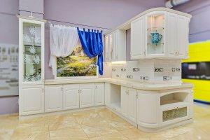 Белая кухня угловая Шебби Шик - Мебельная фабрика «Магия кухни»