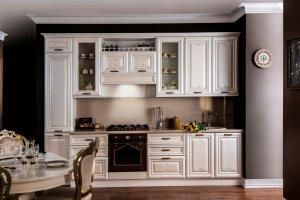 Белая Кухня Виттория Люкс - Мебельная фабрика «Сходня Мебель»