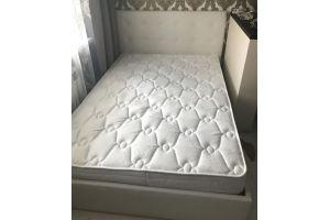 Белая мягкая кровать - Мебельная фабрика «ЛВМ (Лучший Выбор Мебели)»