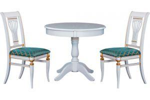 Белая обеденная группа Стол Джем, стулья Март - Мебельная фабрика «Черноусовъ»
