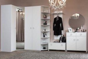 Белая прихожая Лучидо - Мебельная фабрика «Манн-групп»