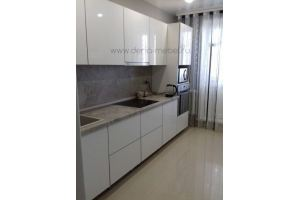 Белая прямая кухня - Мебельная фабрика «Дэрия»