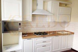 Белая прямая кухня - Мебельная фабрика «Кредо»