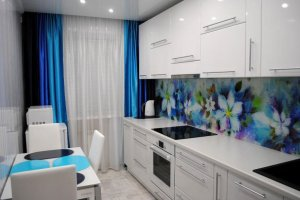 Белая прямая кухня - Мебельная фабрика «Люкс-С»