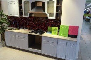 Белая прямая кухня ПВХ Арка - Мебельная фабрика «Кухни-АСТ»