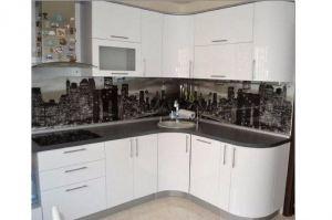 Белая радиусная кухня - Мебельная фабрика «Галант»