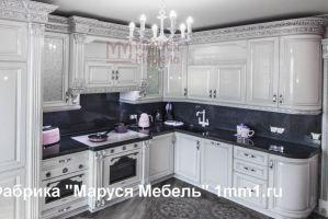 Белая резная кухня - Мебельная фабрика «Маруся мебель»