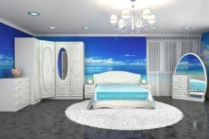 Белая спальня Жемчужина - Мебельная фабрика «Премиум»