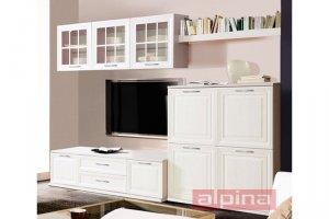 Белая стенка в гостиную - Мебельная фабрика «Альпина»
