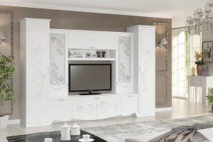 Белая стенка в гостиную Дольче - Мебельная фабрика «Можгинский лесокомбинат» г. Ижевск