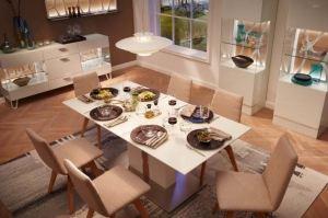 Белая столовая группа Leonardo - Мебельная фабрика «Möbel&zeit»