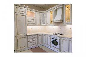 Белая угловая кухня КАЛИ - Мебельная фабрика «КухниДар»
