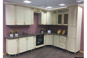 Белая угловая кухня Лаванда  - Мебельная фабрика «Шанс»