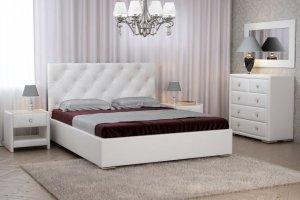 Белоснежная кровать Глория - Мебельная фабрика «Тальяна»