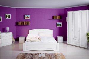 Белоснежная спальня Афина