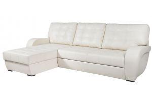 Белый диван с оттоманкой Монреаль - Мебельная фабрика «Рапсодия»