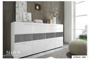 Комод белый глянцевый Хемнэс - Мебельная фабрика «NIKA premium»