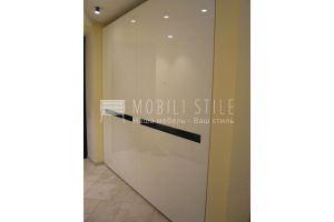 Белый глянцевый компланарный шкаф - Мебельная фабрика «Стильная мебель»
