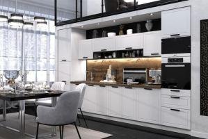 Белый кухонный гарнитур Монс - Мебельная фабрика «ЛЕКО»