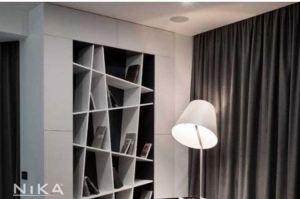 Белый открытый стеллаж Амстердам STL1 - Мебельная фабрика «NIKA premium»