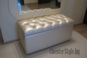 Белый пуф Диаманд - Мебельная фабрика «ChesterStyle»