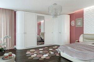 Белый Радиусный шкаф-купе - Мебельная фабрика «HOLZ»