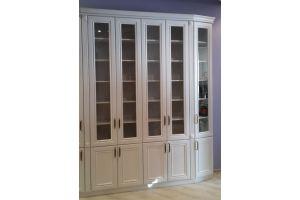 Белый шкаф-библиотека - Мебельная фабрика «Мебель Парк»