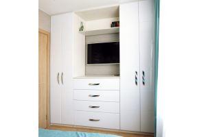 Белый шкаф в спальню - Мебельная фабрика «Агата»