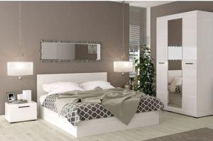 Белый спальный гарнитур Лайт - Мебельная фабрика «Эдельвейс»
