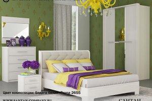 Белый спальный гарнитур Луна - Мебельная фабрика «Сантан»