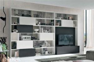 Белый стеллаж в гостиную Бланес STL19 - Мебельная фабрика «NIKA premium»