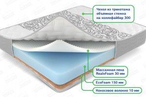 Беспружинный матрас Relax massage mix - Мебельная фабрика «ЭкоСон»
