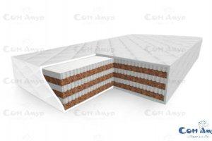 Беспружинный многослойный матрас сэндвич Эдельвейс Лайт - Мебельная фабрика «Сон Амур»