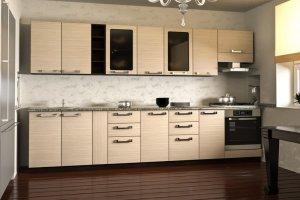 Бежевая кухня 5 - Мебельная фабрика «Мебельный Квартал»