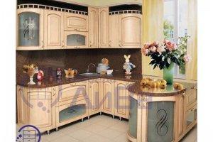 Бежевая Винтажная кухня - Мебельная фабрика «ДиВа мебель»