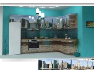 Кухня угловая Фотопечать 06 - Мебельная фабрика «Форт»
