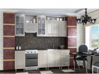 Кухня Смак в цвете тик глянец другой интерьер - Мебельная фабрика «МИГ»